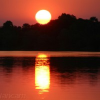 Zonsondergang boven de Zambezi