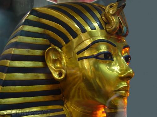 Dodenmasker farao toetanchamon, egyptisch museum, caïro, Egypte