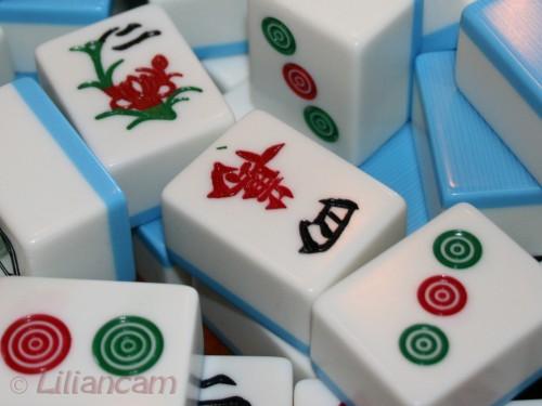 Mahjong, blokjes, spel, chinees spel, China