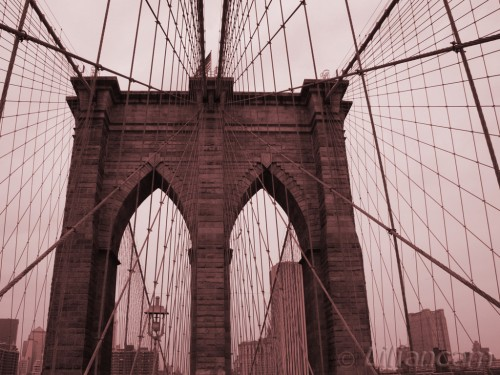 Brug, brooklynbridge, New York, Amerika, USA, Manhattan
